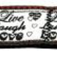 Live Laugh and Love 1 inch wide 4ft long Leash