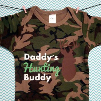 Daddy's Hunting Buddy - Camo Baby Onesuit