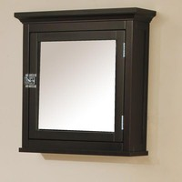 Dark Espresso Finish Bathroom Wall-Mount Medicine Cabinet With Mirror