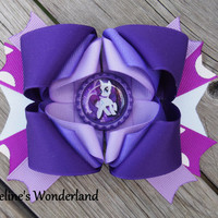 My Little Pony Rarity Inspired Baby, Toddler, Girls, Boutique Style Hair Bow
