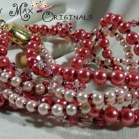 Pink Pearls, Swarovski Crystals and PURE Beauty Necklace Set