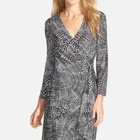 Women's BCBGMAXAZRIA 'Adele' Print Matte Jersey Wrap Dress,