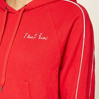 I Dont Know Embroidered Hoodie