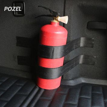 ONETOW New Portable Car Trunk Bag Fire Extinguisher Holder Safety Black Bandage Tape Strap Kit