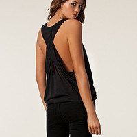 Wrap Over Back Slub Tee, Three Little Words