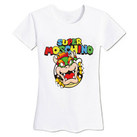 Super Moschino Printed Slim Short Sleeve Alphabets Words Casual Plain Top Shirt T-Shirt  _ 3907