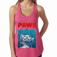 Paws Tank Top Paws Tshirt Women Tank top Pink, Lady Women Fit Tee, Sweater Hoodie Tshirt Tank Top