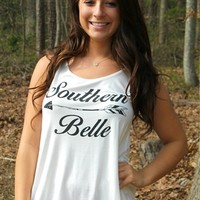 Very soft tank with words on the front with an arrow.