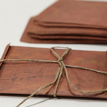 Set of vintage Envelopes // 4x6  Brown Envelopes // Invitation Envelopes // Favor Bags/ Retro Envelopes