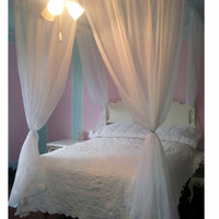King Size Princess Bed Canopy! Free Shipping (Easy Kit Four Poster Princess Bed Bed Tent Canopy Bed Curtains Handmade Canopy Bed Easter gift