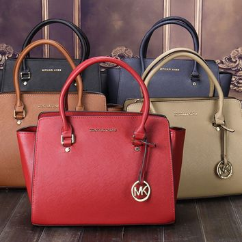 """Michael Kors"" Simple Fashion All-match Single Shoulder Messenger Bag MK Women Temperament Handbag"
