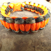 Orange and Camo Survival Bracelet
