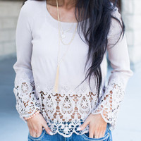 Laced to Perfection Top Blush