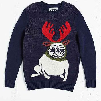 Character Hero Pug Reindeer Sweater