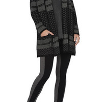 BCBG Shadia Textured Jacquard Sweater Coat