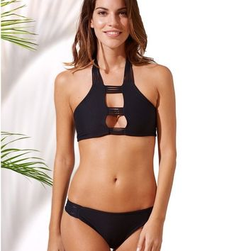 Poema Swim - Black Halter Top
