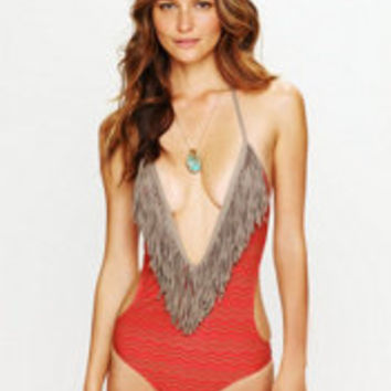 L*Space Fringe Printed One Piece at Free People Clothing Boutique