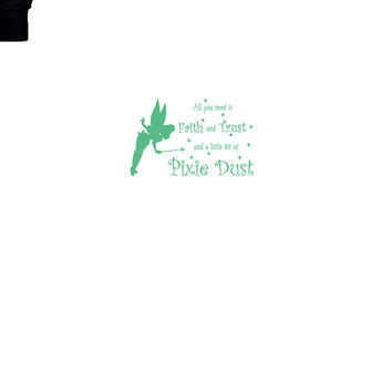 Tinker Bell Quotes Pixie Dust Hoodie