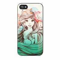 ariel little mermaid long hair beautifull case for iphone 5 5s