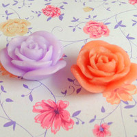 Handmade glycerin soap, rose flower, party favors, baby showers, wedding favors