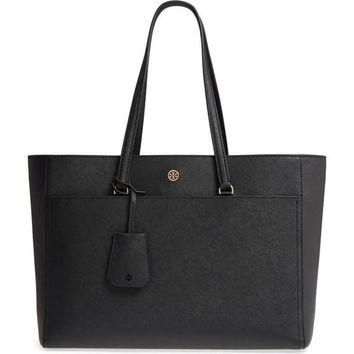 Tory Burch Robinson Leather Tote - M | Overstock.com Shopping - The Best Deals on Tote Bags