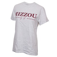 The Mizzou Store - Mizzou Juniors' Maroon & Ash Grey Crew Neck T-Shirt