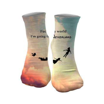 I'm going to Neverland socks
