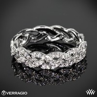 18k White Gold Verragio Eternal Braid Diamond Wedding Ring
