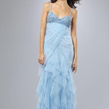 MIGNON - REC142 Tiered Ruffle Evening Dress