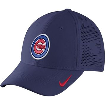 Men's Chicago Cubs Dri-FIT Royal Vapor Classic Swoosh Flex Fitted Hat