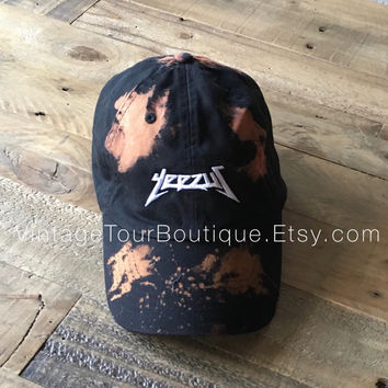 Yeezus Tour Bleached Unstructured Dad Hat