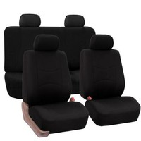 FH Group Black Car Seat Covers for Front Low Back Buckets and Solid Bench (Full Set) - Walmart.com