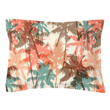 Summer Palm Trees Pillow Shams