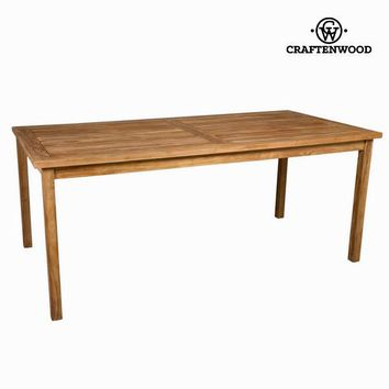 Natural teak outside table by Craften Wood
