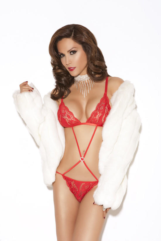 Red Lace Teddy From Bikini Luxe Lingerie Intimates