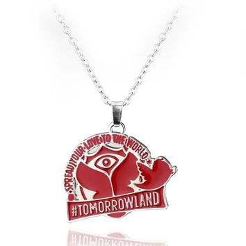 Tomorrowland Movie Necklace Spread Your Love To The World Peace Dove Tree Medallion Pendant Necklace Tomorrow Land Jewelry