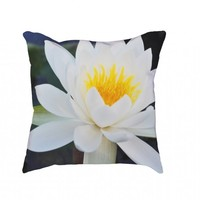 Waterlilly Floral Cushion - Homeware + More | Joelle's Emporium