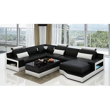 Luxury Modern Lecce U Shaped Living Room Sectional Sofa