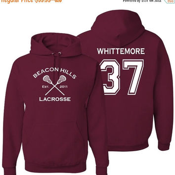 10% Off Teen Wolf Hoodie, Whittemore 37, Beacon Hills Lacrosse Sweatshirt