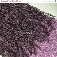 CHRISTMAS SALE Extra long purple boucle crochet scarf with fringe, ready to ship.