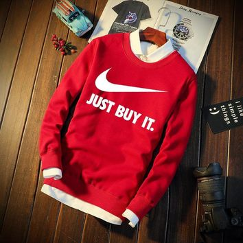 Winter Hoodies Korean Sports Long Sleeve Cotton Round-neck Jacket [12225162963]