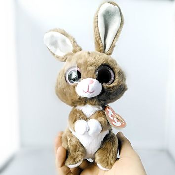 "Ty Beanie Boos Twinkle Toes the Bunny Plush 6"" Beanie Babies Plush Stuffed Collectible Soft Big Eyes Plush Rabbit Doll Toy S95"