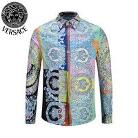 Free shipping-Versace new men's POLO shirt long-sleeved T-shirt