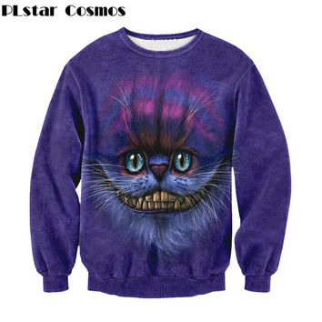 Unisex 3D Print The Cheshire Cat O-Neck Long Sleeve Sweatshirt S-XL 10 Designs