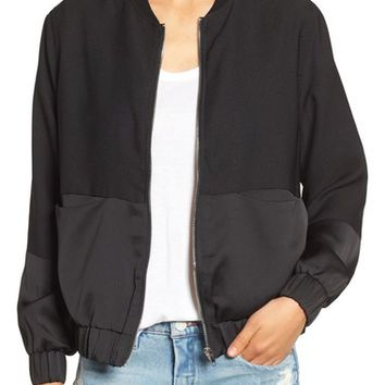 Missguided Tonal Satin Bomber Jacket | Nordstrom