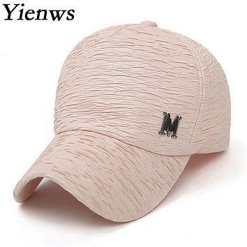 Yienws Women Mesh Baseball Cap M Black Pink Summer Caps Hat Cartoon Bone Gorras Hip Hop Full Cap YH219