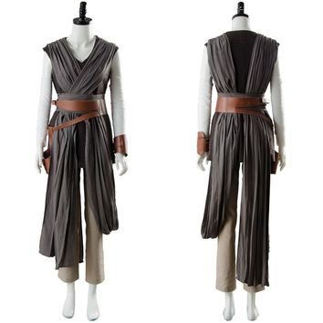 Star Wars 8 The Last Jedi Rey Ver.2 Cosplay Costume Outfit Full Sets