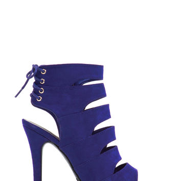 Tied For First Strappy Cut-Out Heels