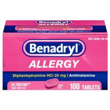 Benadryl® Allergy Relief 25 mg Tablets - Diphenhydramine HCL - 100ct