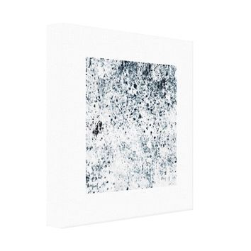 """12"""" x 12"""" Black and White Abstract Canvas Print"""
